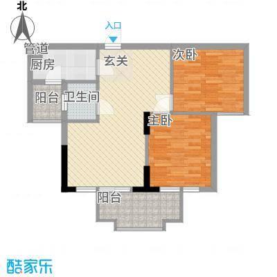 一江名城7.25㎡1#、2#-04户型2室2厅2卫1厨