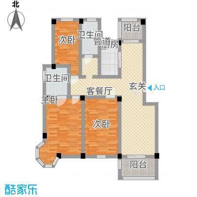 七彩云山121.00㎡C户型3室2厅2卫1厨
