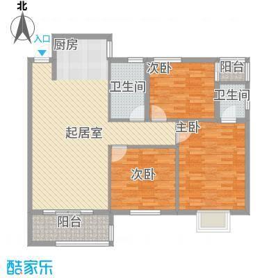 金星阳光格林17.56㎡2栋3号C户型3室2厅2卫1厨