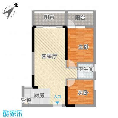 人民大厦75.72㎡2栋F5户型2室2厅1卫1厨