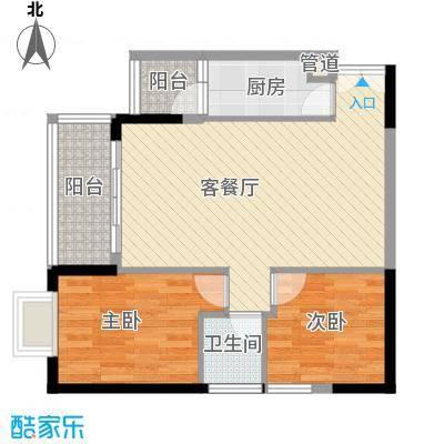 人民大厦78.36㎡2栋C户型2室2厅1卫1厨