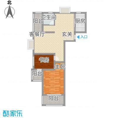 众兴・嘉城17.00㎡F户型2室2厅1卫1厨