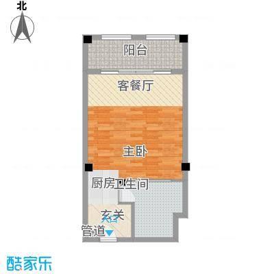 桂林罗山湖国际旅游休闲度假区72.00㎡一期B户型1室1厅1卫1厨