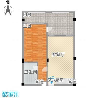 桂林罗山湖国际旅游休闲度假区86.00㎡一期A户型1室1厅1卫1厨