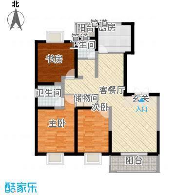洋河梦都花园134.20㎡D1户型3室2厅2卫1厨