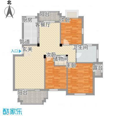 宏基花园C户型3室2厅1卫1厨