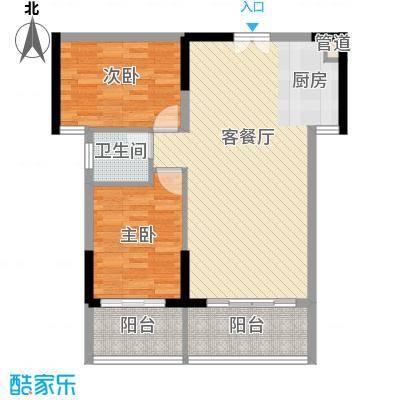 人民大厦84.50㎡2栋F3户型2室2厅1卫1厨