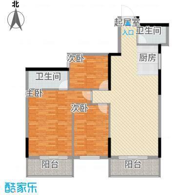 桂林独秀苑117.66㎡12栋C1户型3室2厅2卫1厨