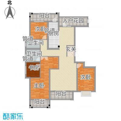 赵都华府C3户型4室2厅2卫1厨