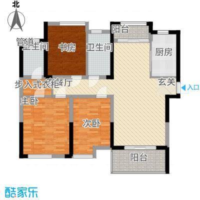 济民可信艾溪康桥11.15㎡一期高层2#B2户型3室2厅2卫1厨