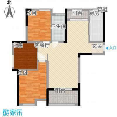 济民可信艾溪康桥14.60㎡一期高层5#A2户型3室2厅1卫1厨