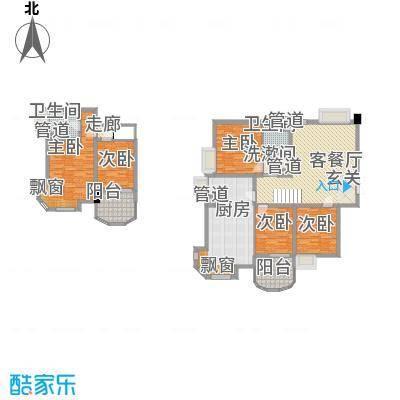 世纪中央城138.80㎡二期9#偶数层A3户型5室2厅2卫1厨