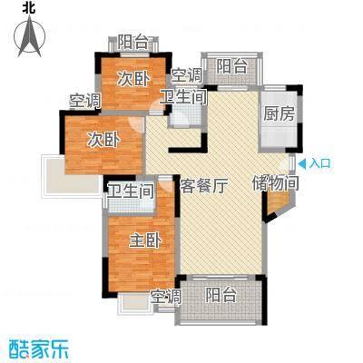 联发江岸汇景138.00㎡三期高层26、27号楼G2户型3室2厅2卫1厨