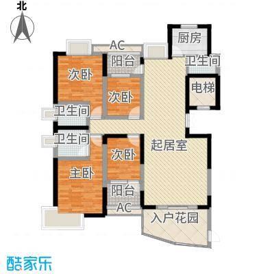 联泰香域尚城164.00㎡15#楼D6户型4室2厅3卫1厨