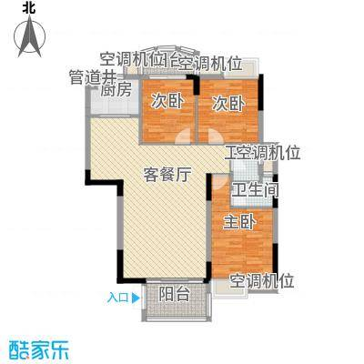 联泰香域滨江桥郡14.00㎡3#楼户型