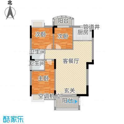 联泰香域滨江桥郡18.00㎡小高层1#楼户型
