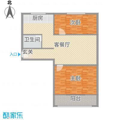 祥丰大厦124.00㎡标准层A2户型2室2厅1卫1厨