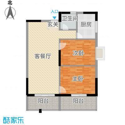 桂林日报社小区滨江国际3.00㎡9栋B户型2室2厅1卫1厨