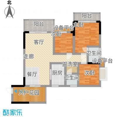 中糖大城小院15.44㎡1#楼D户型