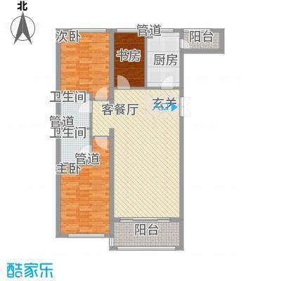 大唐天下江山二期7号楼标准层天漳户型