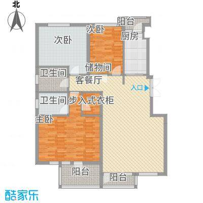 中凯梦之城14.00㎡多层电梯洋房户型