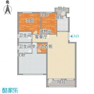 中凯梦之城135.00㎡多层电梯洋房户型