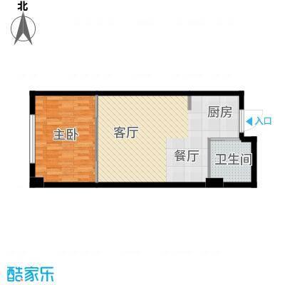 中京城52.56㎡C户型1室1厅1卫1厨