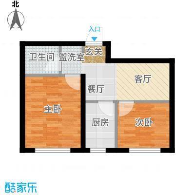 江城文苑62.10㎡高层户型
