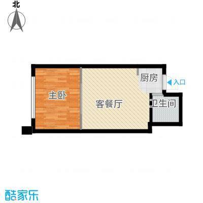 中京城53.36㎡E户型1室1厅1卫1厨
