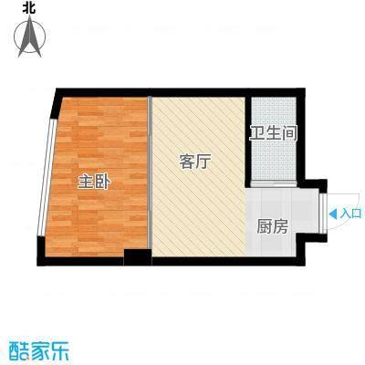 中京城4.51㎡G户型1室1厅1卫1厨