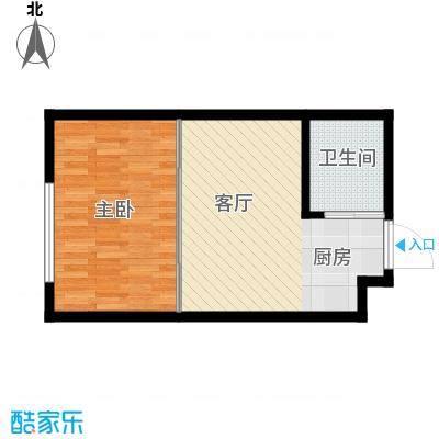 中京城41.78㎡I户型1室1厅1卫1厨