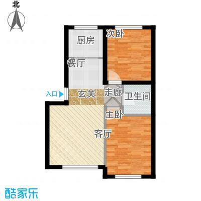 江城文苑8.80㎡高层户型