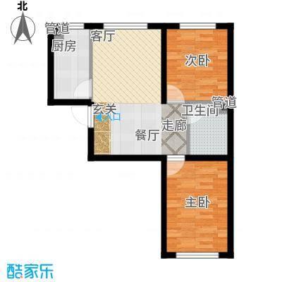 江城文苑7.60㎡小高层户型