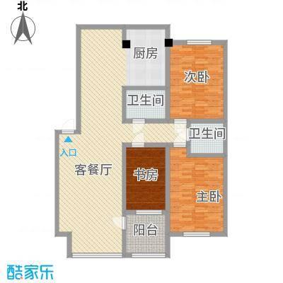 嘉业紫荆花145.00㎡户型
