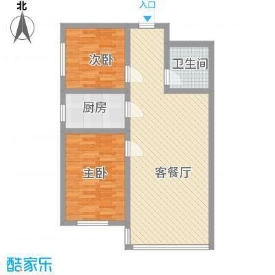 湘江名苑8.80㎡4户型2室1厅1卫1厨