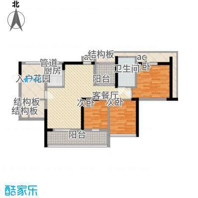 万科外国语学校宿舍135.00㎡户型3室