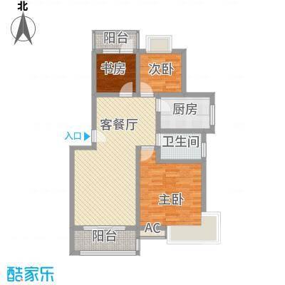 碧海莲缘1.60㎡一期B户型3室2厅1卫