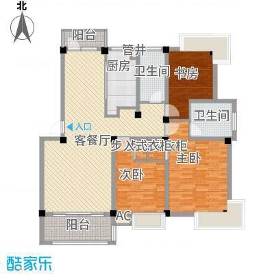 碧海莲缘12.70㎡一期F户型3室2厅2卫