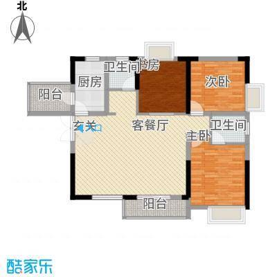 清风华园115.00㎡C2户型3室2厅2卫1厨