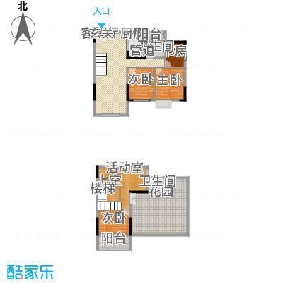 运河佳苑156.00㎡复式C户型4室3厅2卫1厨