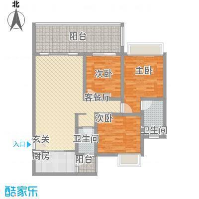 东方花园东方户型3室2厅2卫1厨