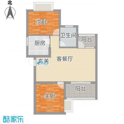 华翔世纪城1.52㎡D3户型2室2厅1卫1厨