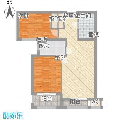 龙城帝景A9号楼标准层B户型