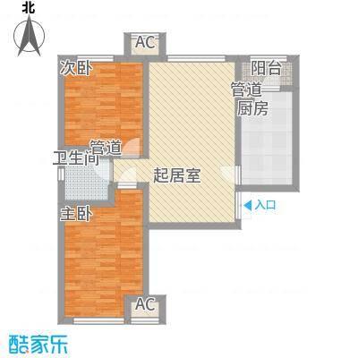 龙城帝景A5号楼标准层A户型