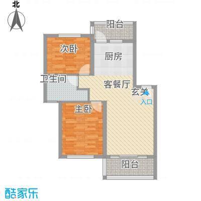 华茂依山君庭8.00㎡89户型2室2厅1卫1厨