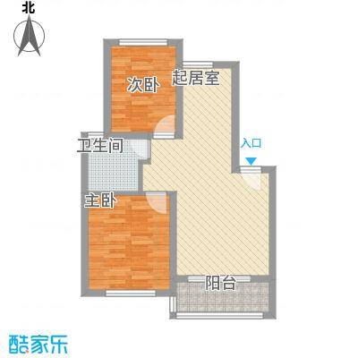 华茂依山君庭75.00㎡75户型2室2厅1卫1厨