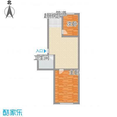 兴隆家园3#标准层E1户型2室2厅1卫