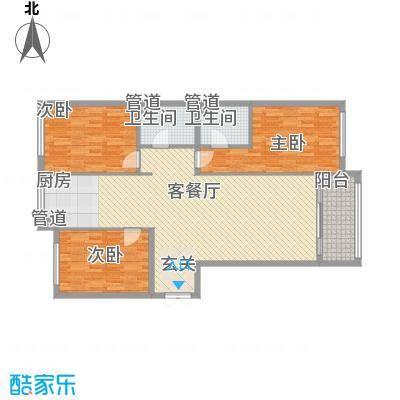 大唐天下江山二期3号楼、5号楼标准层江澜户型