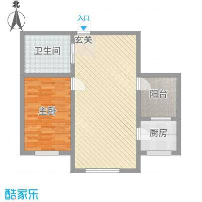 兴隆家园3#标准层G户型2室2厅1卫