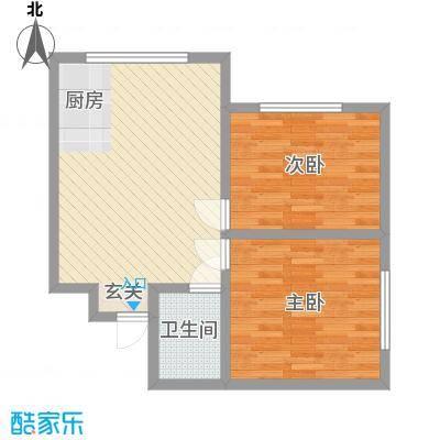 兴隆家园3#标准层H户型2室2厅1卫